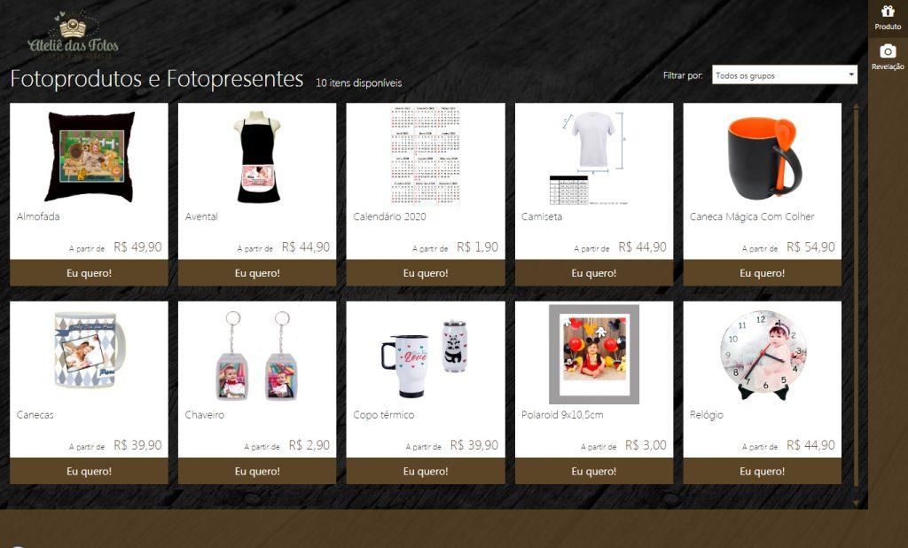 Fotoprodutos e fotopresentes exclusivos e personalizado. Uma ótima opção de presente.
